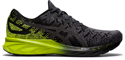 Asics Men's Dynablast Running Shoes in Black/Lime Zest