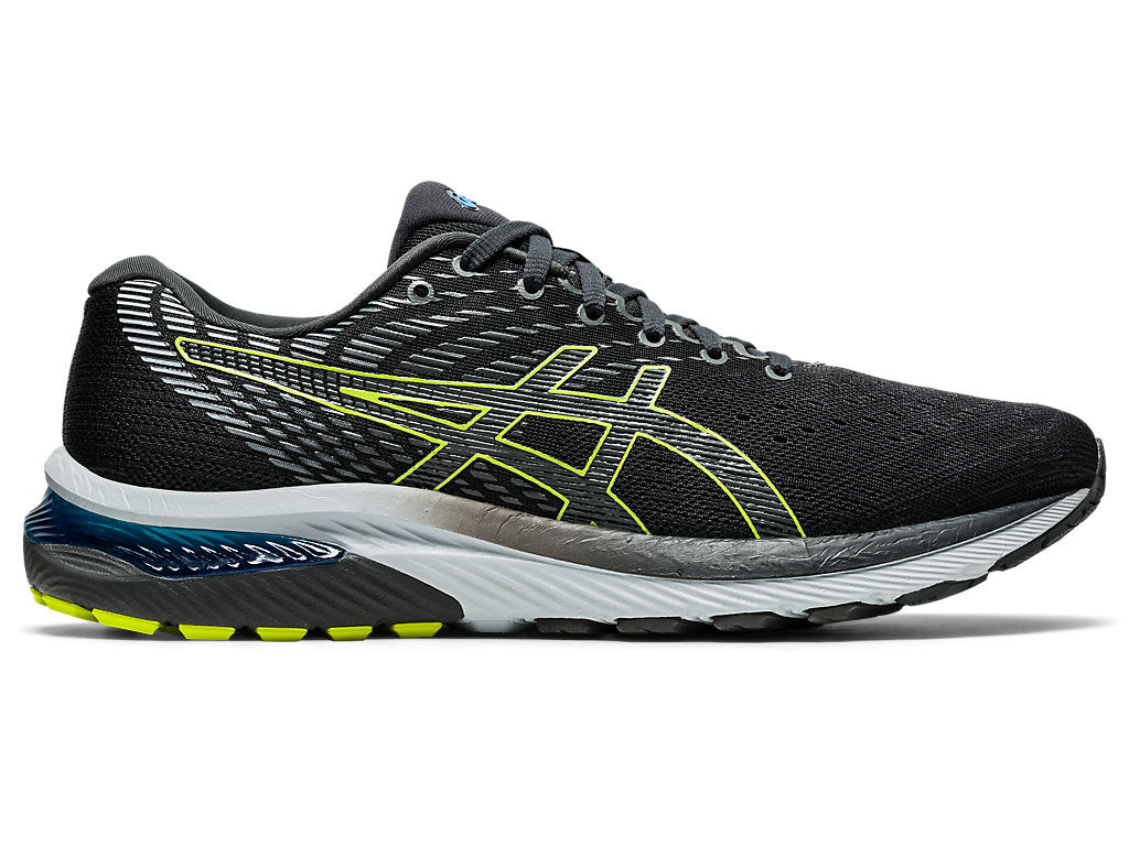 Asics Men's Gel-Cumulus 22 Running Shoes in Graphite Grey/Lime Zest