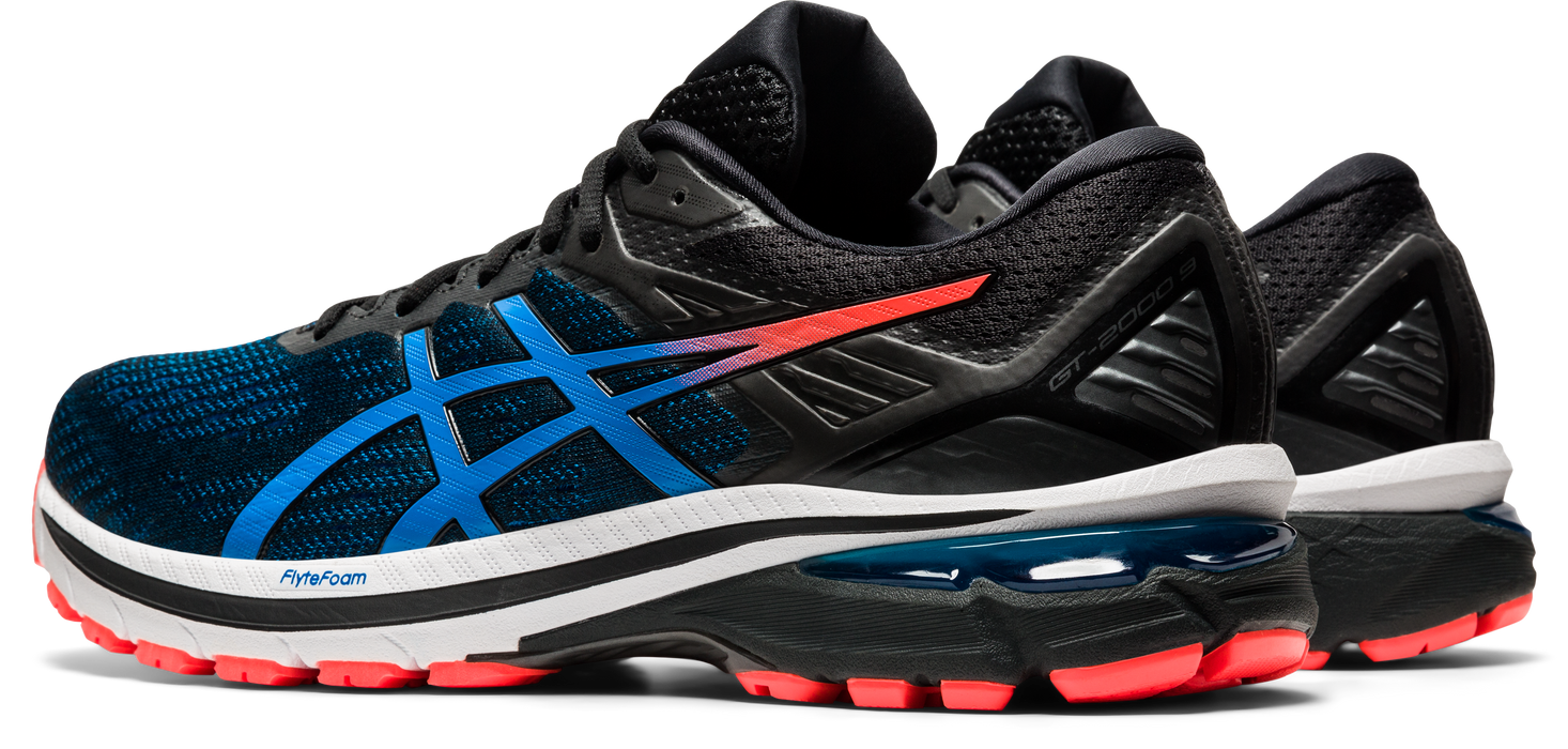 Asics Men's GT-2000 9 Running Shoes in Black/Directoire Blue