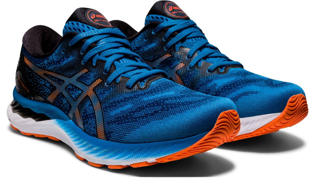 Asics Men's Gel-Nimbus 23 Running Shoes in Reborn Blue/Black