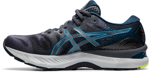 Asics Men's Gel-Nimbus 23 (2E) Wide Width Running Shoes in Carrier Grey/Digital Aqua