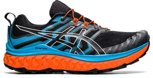 Asics Men's Gel-FujiTrabuco MAX Running Shoes in Black/Digital Aqua
