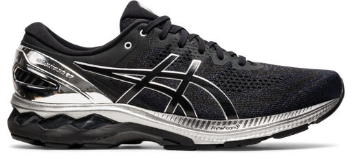 Asics Men's Gel-Kayano 27 Platinum Limited Edition Running Shoes in Black/Pure Silver