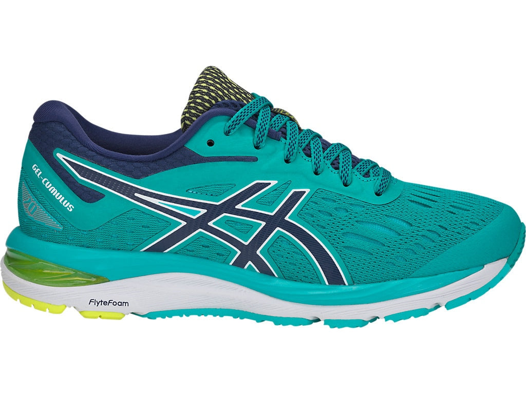Asics Women's Gel-Cumulus 20 Running Shoes in Sea Glass/Indigo Blue - atr-sports