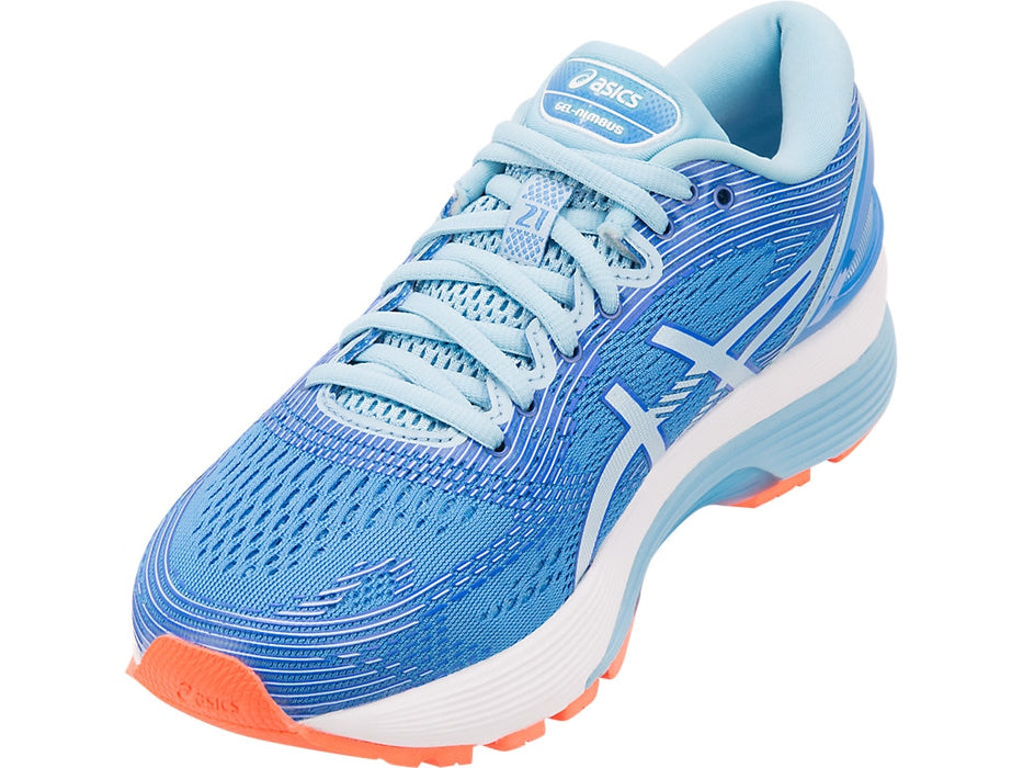 Asics Women's Gel-Nimbus 21 Running Shoes in Blue Coast/Skylight - atr-sports