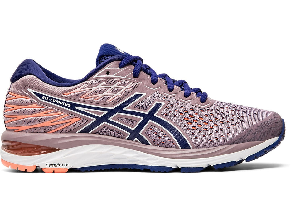 Asics Women's Gel-Cumulus 21 Running Shoes in Violet Blush/Dive Blue - atr-sports