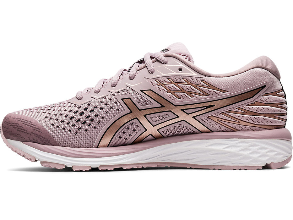 Asics Women's Gel-Cumulus 21 Running Shoes in Wastershed Rose/Rose Gold