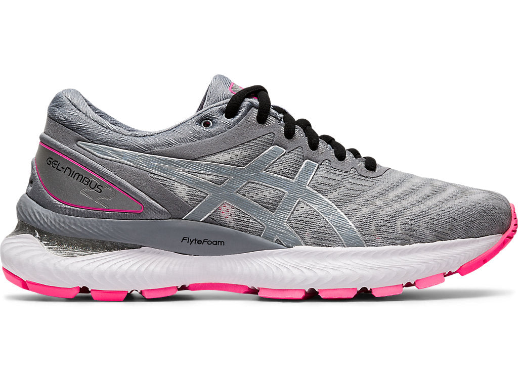 Asics Women's Gel-Nimbus 22 Lite-Show Running Shoes in Sheet Rock/ Sheet Rock