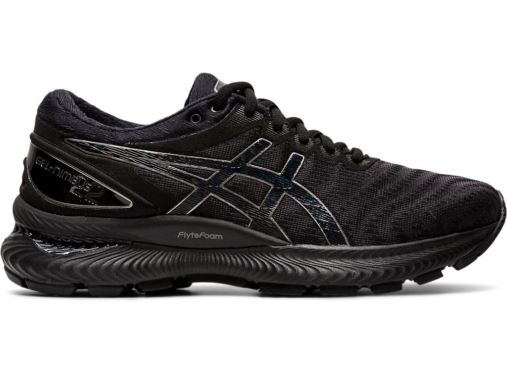 Asics Women's Gel-Nimbus 22 Running Shoes in Black/Black