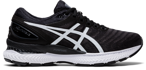 Asics Women's Gel-Nimbus 22 Running Shoes in Black/White
