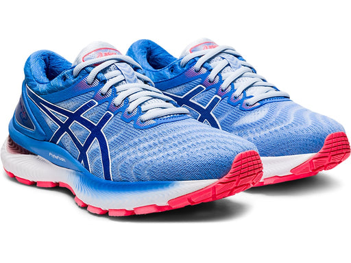 Asics Women's Gel-Nimbus 22 Running Shoes in Soft Sky/Tuna Blue