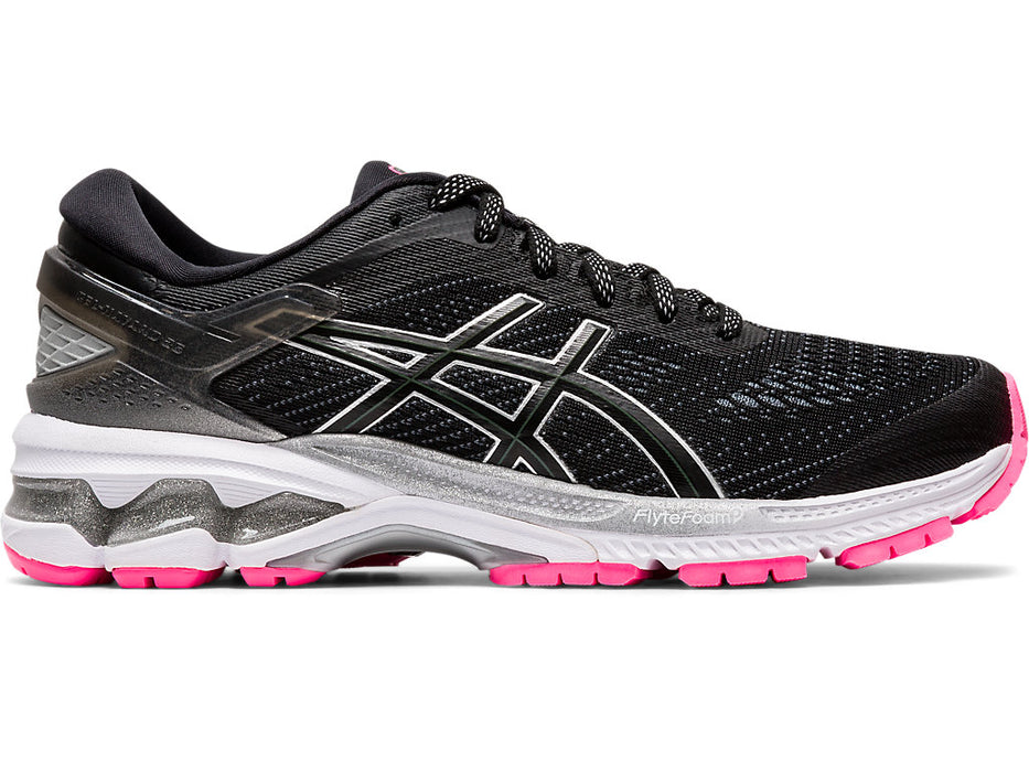 Asics Women's Gel-Kayano 26 Lite-Show Running Shoes in Black/Black
