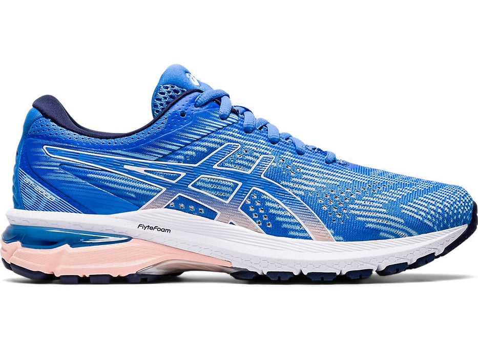 Asics Women's GT-2000 8 Running Shoes in Blue Coast/White - atr-sports