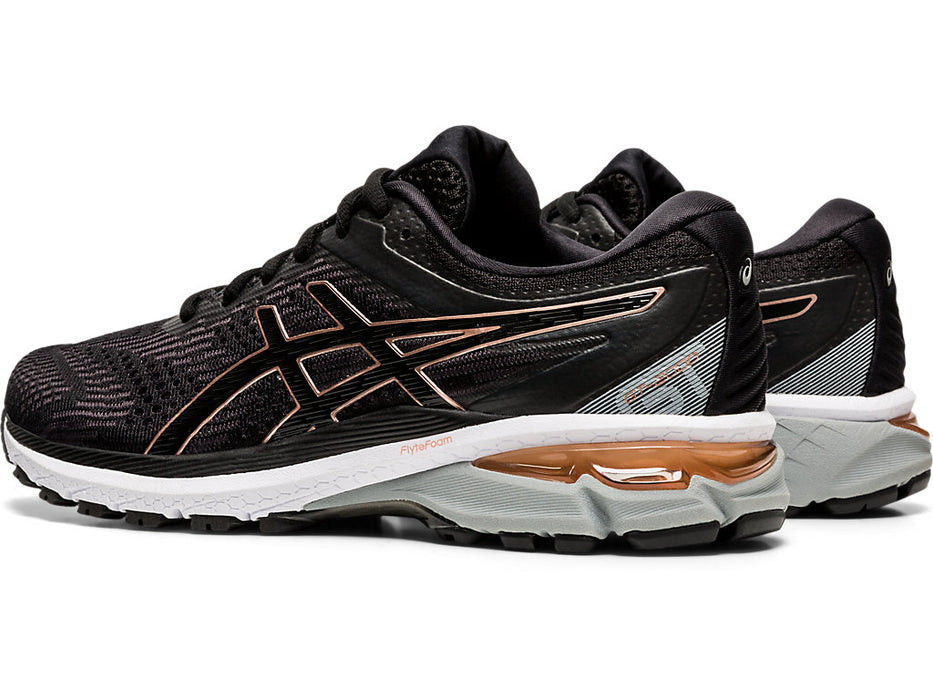 Asics Women's GT-2000 8 (D) Running Shoes in Black/Rose Gold - atr-sports
