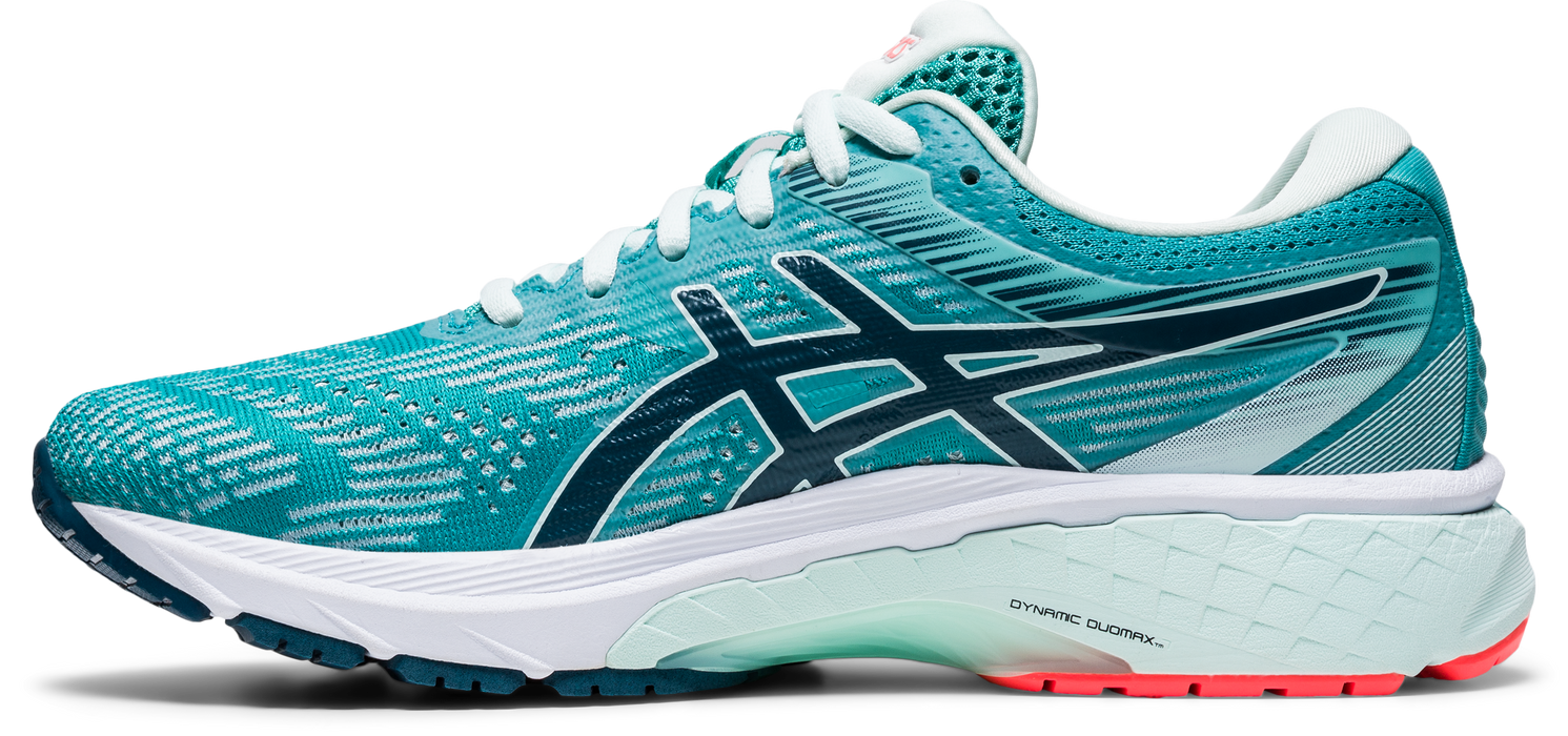 Asics Women's GT-2000 8 (D-Width) Wide Running Shoes Techno Cyan/ Magnetic Blue