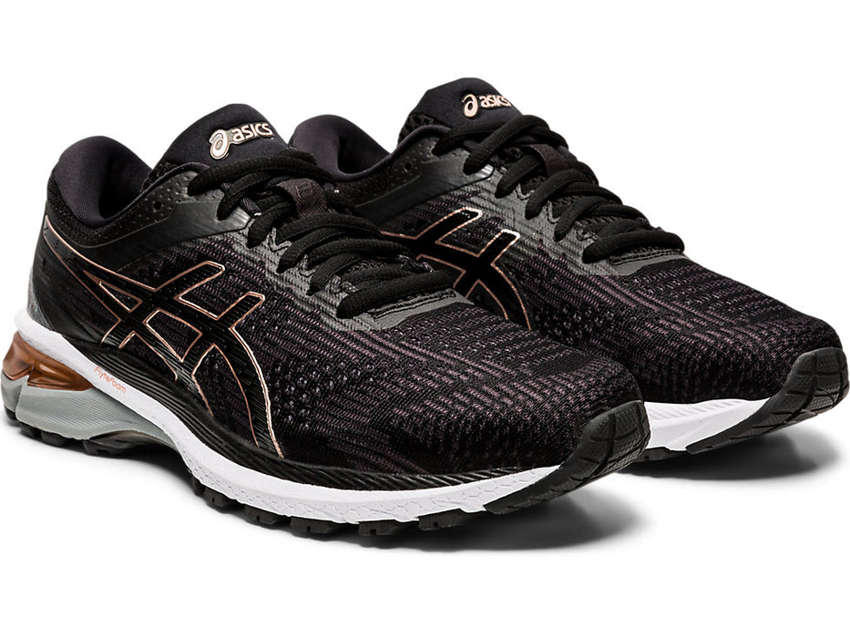 Asics Women's GT-2000 8 (2A) Running Shoes in Black/Rose Gold