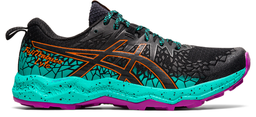 Asics Women's Gel-Fujitrabuco Lyte Running Shoes in Black/Baltic Jewel