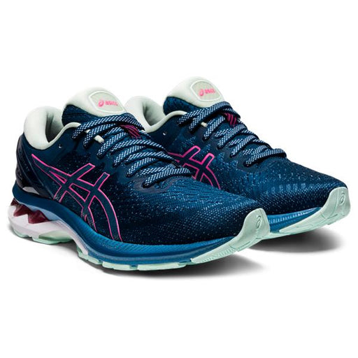 Asics Women's Gel-Kayano 27 Running Shoes in Mako Blue/Hot Pink