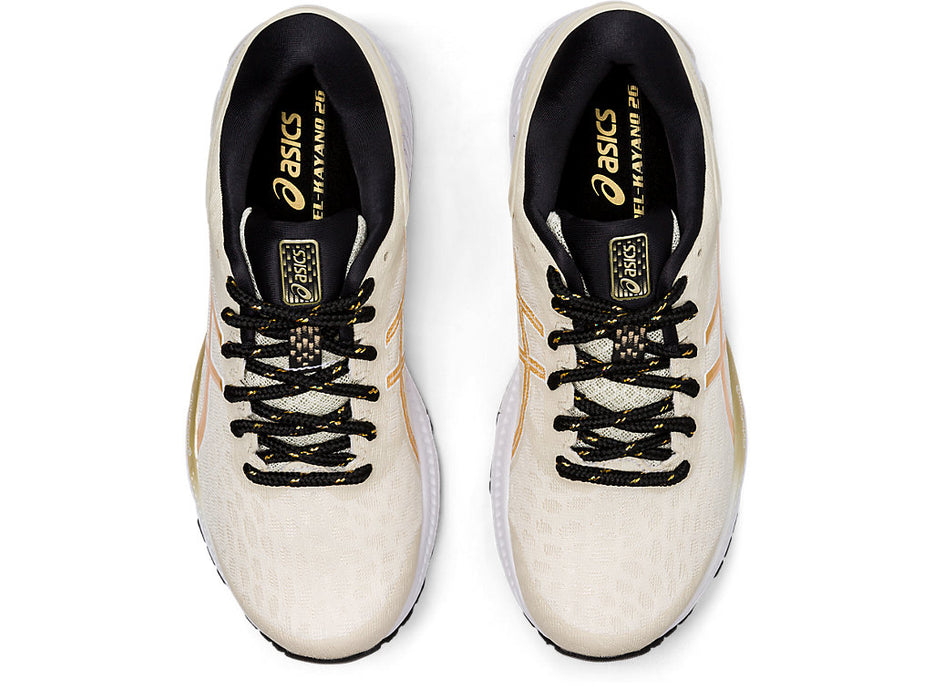 Asics Women's Gel-Kayano 26 The New Strong Running Shoes in Birch/Champagne