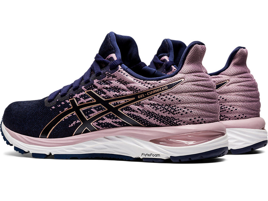 Asics Women's Gel-Cumulus 21 Knit Running Shoes in Peacoat/Rose Gold