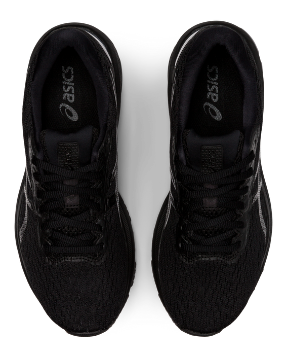 Asics Women's GT-1000 9 Wide (D-Width) Running Shoes in Black/Black