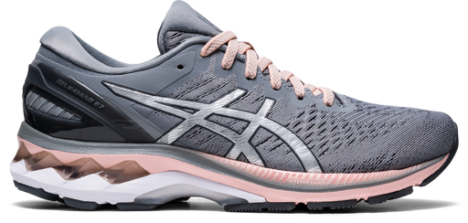 Asics Women's Gel-Kayano 27 (D) Wide Running Shoes in Sheet Rock/Pure Silver