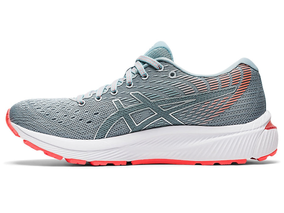 Asics Women's Gel-Cumulus 22 (2A Narrow) Running Shoes in Piedmont Grey/Light Steel