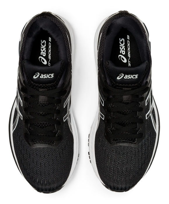 Asics Women's GT-2000 9 Running Shoes in Black/White