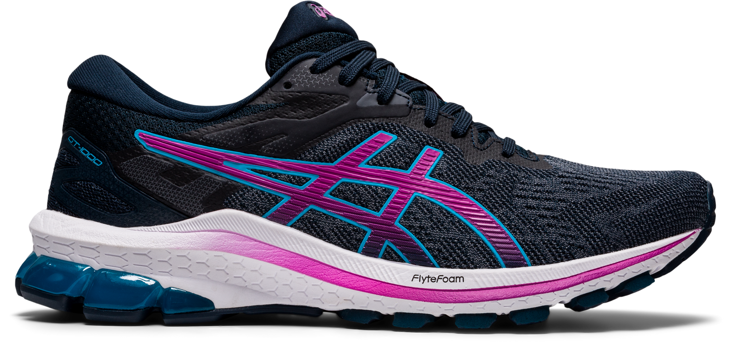Asics Women's GT-1000 10 Running Shoes in French Blue/Digital Grape