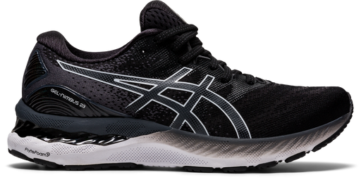 Asics Women's Gel-Nimbus 23 Running Shoes in Black/White