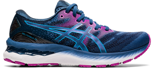 Asics Women's Gel-Nimbus 23 Running Shoes in Grand Shark/Digital Aqua