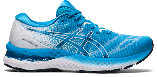 Asics Women's Gel-Nimbus 23 Running Shoes in Digital Aqua/White