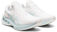 Asics Women's NovaBlast Pixel Noise Running Shoes in White/Aqua Angel