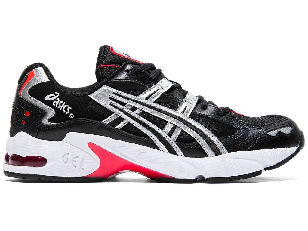 Asics Men's Gel-Kayano 5 OG Running Shoes in Black/Silver - atr-sports
