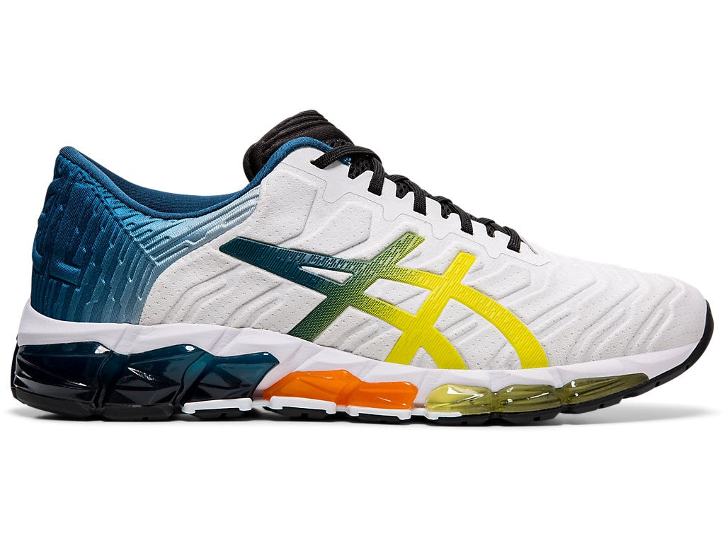 Asics Men's Gel-Quantum 360 5 Running Shoes in White/Sour Yuzu - atr-sports