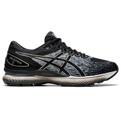Asics Men's Gel-Nimbus 22 Knit Running Shoes in Black/Silver