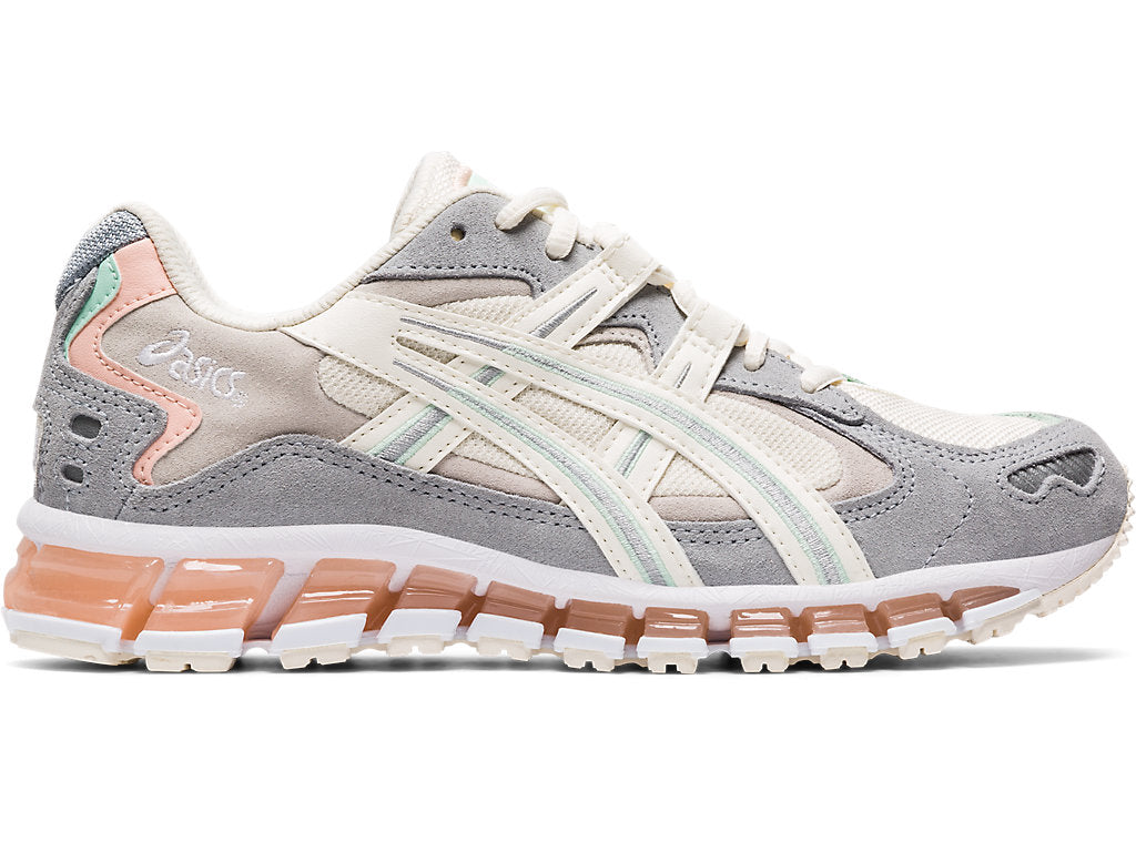 Asics Women's Gel-Kayano 5 360 Running Shoes in Cream/Piedmont Grey