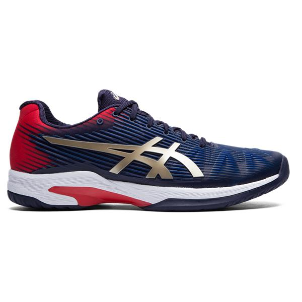 Asics Men's Solution Speed FF Tennis Shoes in Peacoat/Champagne