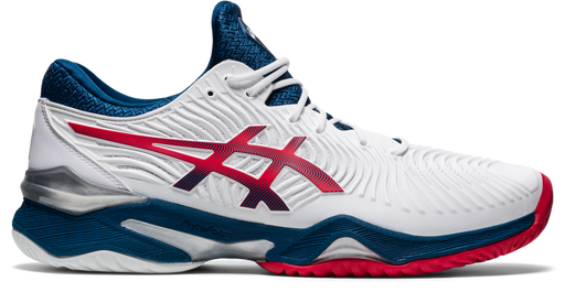 Asics Men's  Court Ff 2 Tennis Shoes In White/Mako Blue