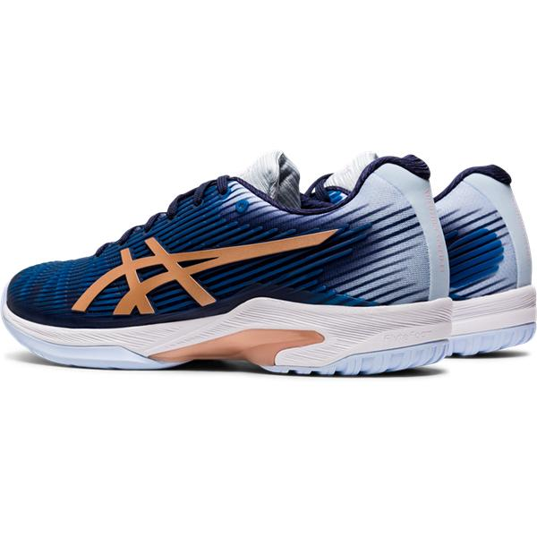 Asics Women's Gel-Solution Speed FF Tennis Shoes in Peacoat/Rose Gold