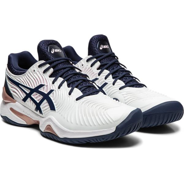 Asics Women's Court FF 2 Tennis Shoes in White/Peacoat