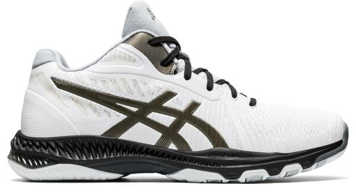 Asics Men's Netburner Ballistic FF MT 2 Volleyball Shoes in White/Gunmetal