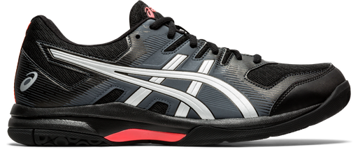 Asics Men's Gel-Rocket 9 Indoor Court Shoes in Black/Sunrise Red