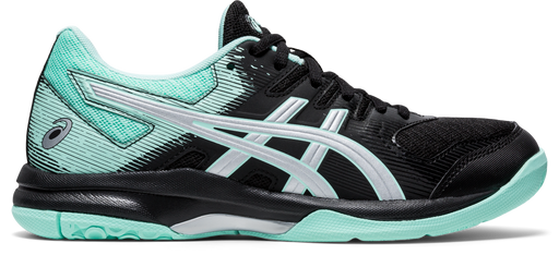 Asics Women's Gel-Rocket 9 Indoor Court Shoes in Black/Fresh Ice