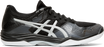 Asics Women's Gel-Tactic Indoor Court Shoes in Black/Silver