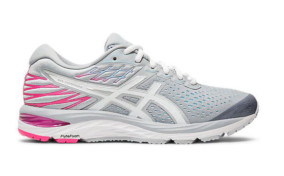 Asics Women's L. GEL-CUMULUS 21 (D) Piedmont Grey/White Running Shoes - atr-sports