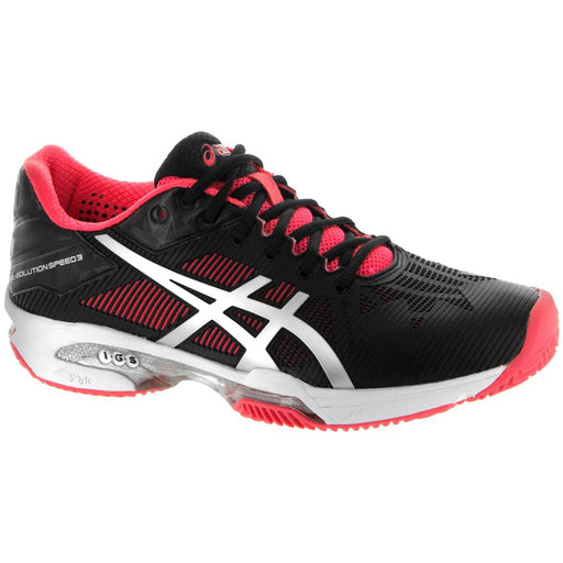 Asics Women's Gel-Solution Speed 3 Clay Tennis Shoes in Black/Silver/Diva Pink - atr-sports