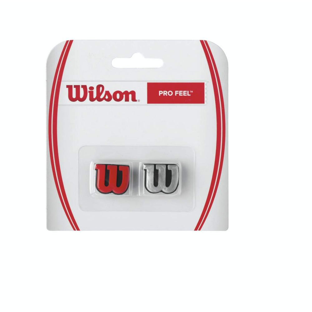 Wilson Pro Feel Racquet Red Silver Dampener - atr-sports