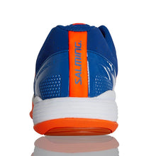 Load image into Gallery viewer, SALMING Kid Falco Indoor Court Shoes in Blue/Orange-ATR Sports