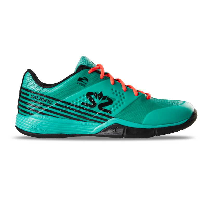 Salming Men's Viper 5 Indoor Court Shoes 2019 (Turquoise/Black)